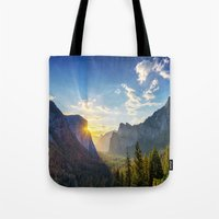 Yosemite Sunburst Tote Bag