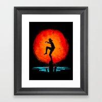 Minimalist Karate Kid Tr… Framed Art Print