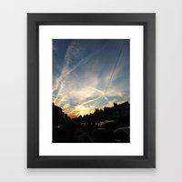 Orange&Blue Framed Art Print