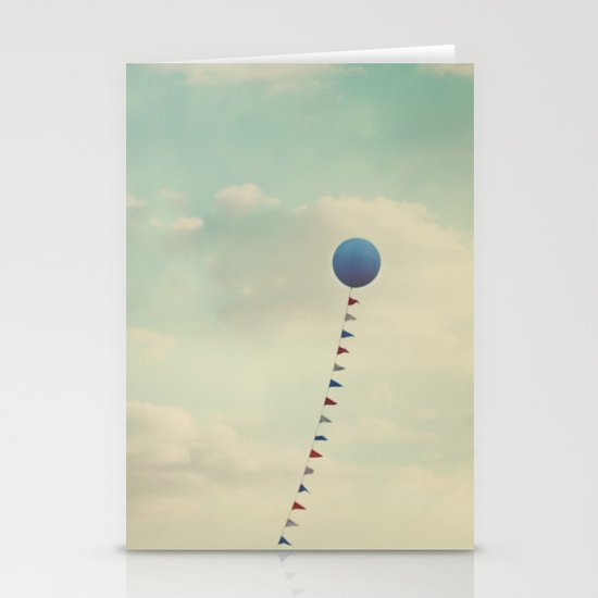 Blue Balloon  Stationery Card