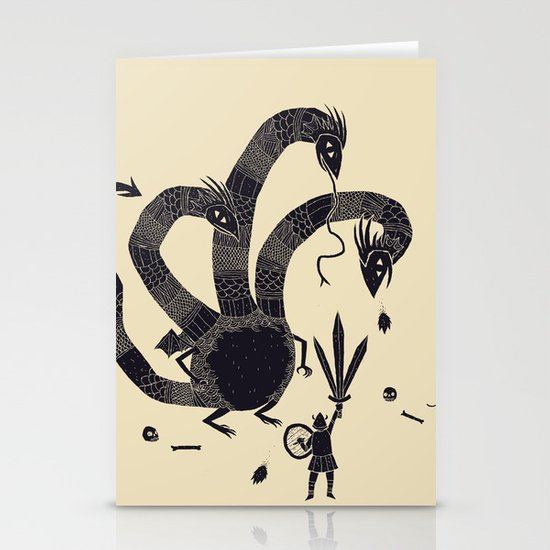 hydra(dark) Stationery Card