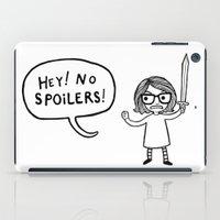 No Spoilers iPad Case