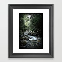 Peace.Serenity Framed Art Print