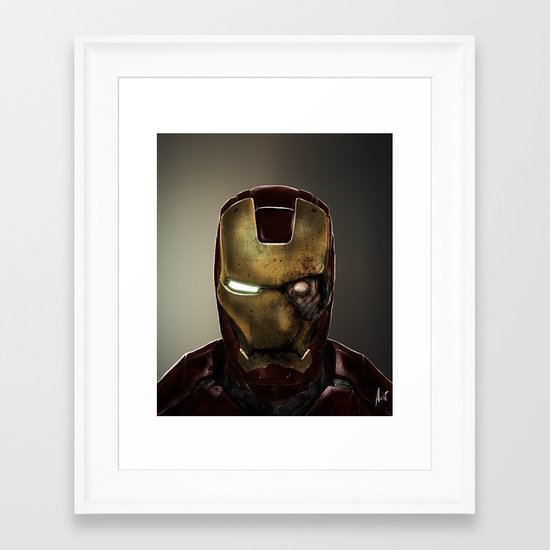 Zombie Iron Man Framed Art Print
