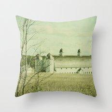 Vintage Rural Throw Pillow