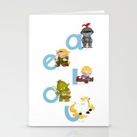 Medieval Vowels Stationery Cards