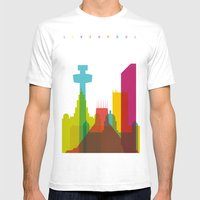 Shapes Of Liverpool. Acc… Mens Fitted Tee White SMALL