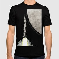 Apollo Rocket Mens Fitted Tee Black SMALL