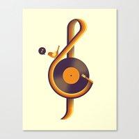 Retro Sound Canvas Print