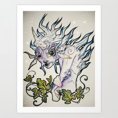 Unicorn Elf Art Print