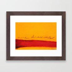 mere dreams Framed Art Print