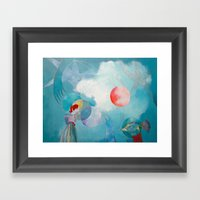 Balance And Astral Being… Framed Art Print