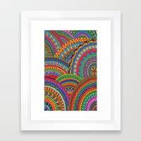 My brain happy Framed Art Print