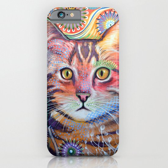 Olivia ... abstract cat art iPhone & iPod Case