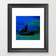 Ocean Silhouette Framed Art Print