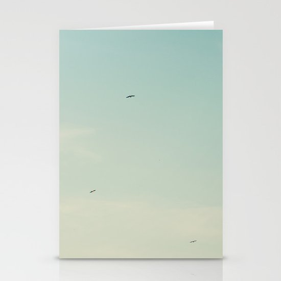 The moon and the birds Stationery Card