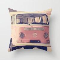 VW Camper Van Throw Pillow