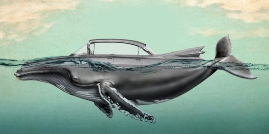 The Cadillac of the sea Art Print
