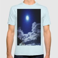 Signs in the Sky Collection I- in its original deep blue Mens Fitted Tee Light Blue SMALL