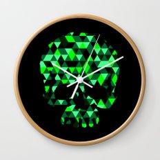 Triangle Camouflage Skull (BLACK) Wall Clock