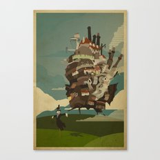 Moving Castle Canvas Print