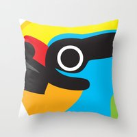 Black-browed Barbet Throw Pillow