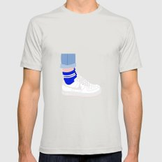 FORCE & SOCKS Mens Fitted Tee Silver SMALL