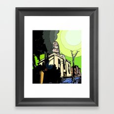 The House of Pollution Framed Art Print