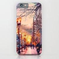 iPhone & iPod Case featuring Boston at Christmas. by LudaNayvelt