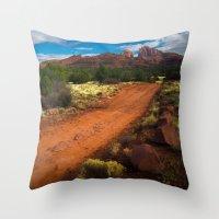 Red Desert Day Throw Pillow