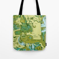 Green Town Tote Bag