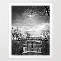 Over the River & Under the Bridge Art Print