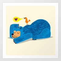 The Bear and The Bird Art Print