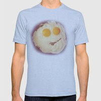 Smiley Egg Mens Fitted Tee Athletic Blue SMALL