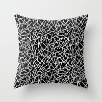 Kerplunk Black and White Repeat #2 Throw Pillow