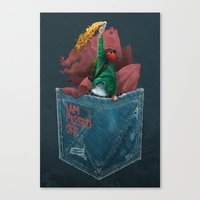 MOLOTOV - I am pissed off Canvas Print