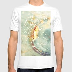 Breaking Lights (abstract) Mens Fitted Tee SMALL White