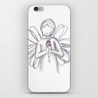 Angel With Rose iPhone & iPod Skin