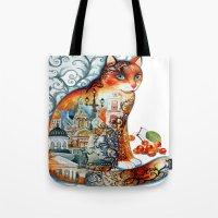 Saint Petersburg cat Tote Bag