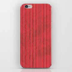 Red grunge stripes on white background iPhone & iPod Skin