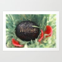 Wellness Stone And Red L… Art Print