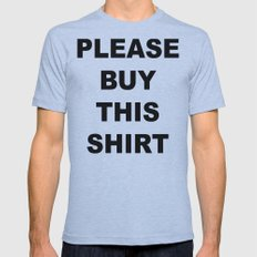 PLEASE BUY THIS Mens Fitted Tee Athletic Blue SMALL