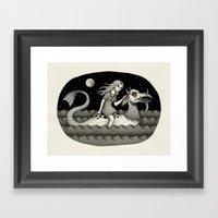 She Traveled By Sea Dragon Framed Art Print