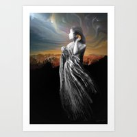merging with the universe Art Print