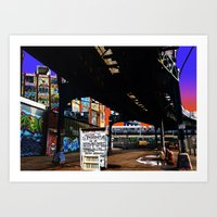 Under The F-Line - New Y… Art Print