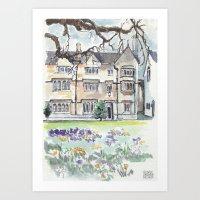 Oxford: Merton College Art Print