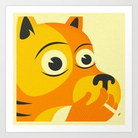 SMOKING DOG Art Print