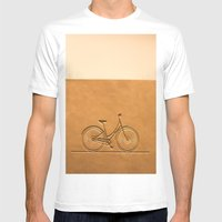 i like to ride my bicycle  Mens Fitted Tee White SMALL