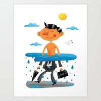 Walk on the Bright Side Art Print