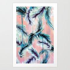 Pink Tropical Haze Art Print